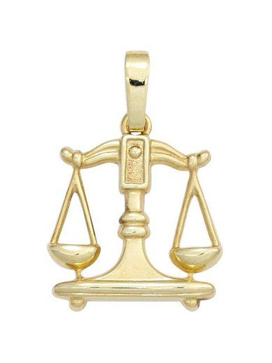 Adelia´s Sternzeichenanhänger »Sternzeichen Waage Anhänger«, 333 Gold