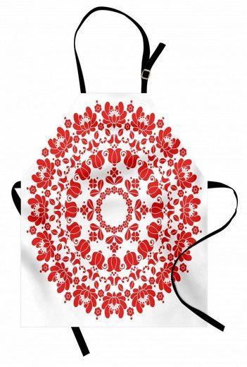 Abakuhaus Kochschürze »Höhenverstellbar Klare Farben ohne verblassen«, Red Mandala Ungarische Volkskunst