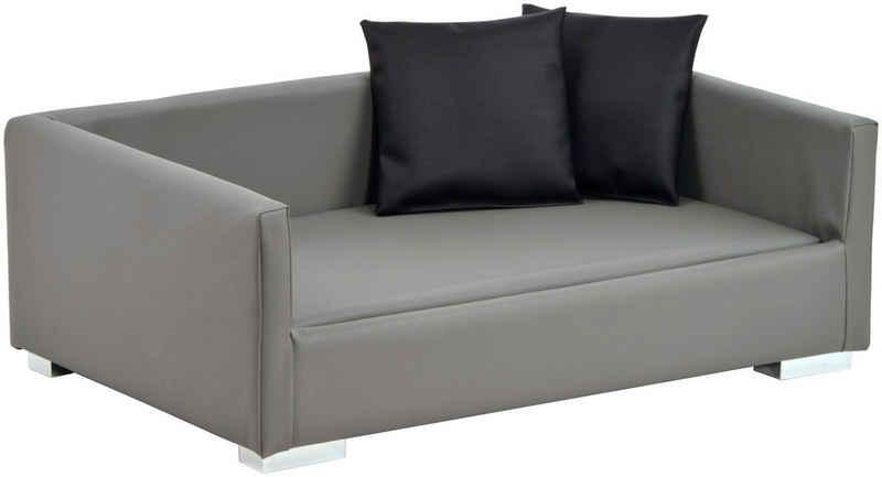 SILVIO design Tiersofa »Lucky Gr.2«, BxLxH: 100x65x32 cm, grau