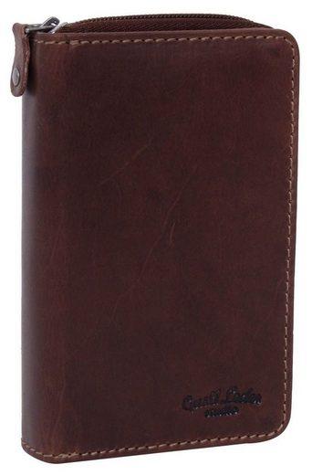 Gusti Leder Geldbörse »Maddox« (1-tlg), Portemonnaie Brieftasche Geldbeutel Kartenhülle