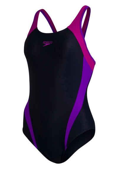 Speedo Badeanzug, im Colour-Block-Design