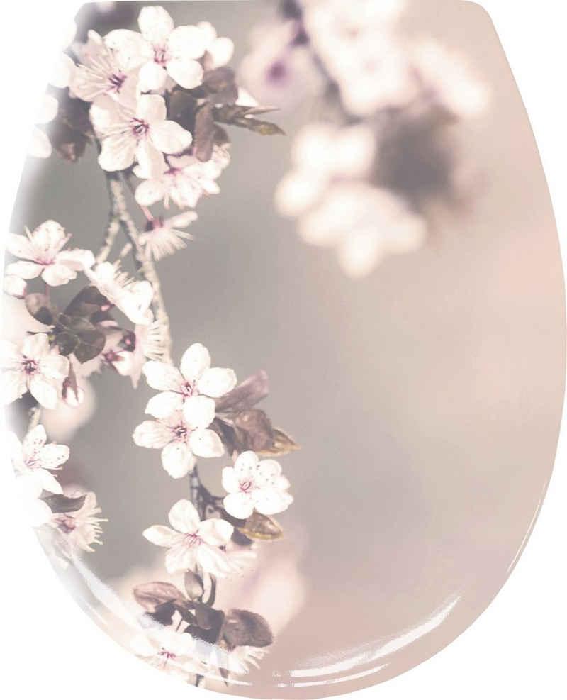 Kleine Wolke WC-Sitz »Blossom« (1-St), Hübscher WC-Sitz aus Duroplast