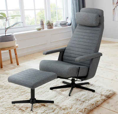 andas TV-Sessel »Thrum«, inklusive Hocker und Kopfkissens, Fernsehsessel, Relaxsessel