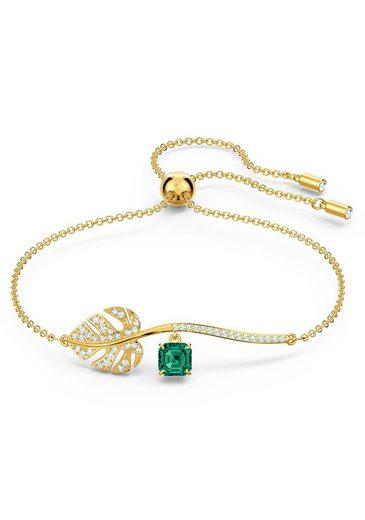 Swarovski Armband »Tropical Armband, grün, vergoldet, 5519234«, mit Swarovski® Kristallen