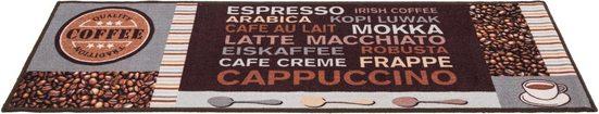 Küchenläufer »Cafe Creme«, Andiamo, rechteckig, Höhe 4 mm, mit Schriftzug