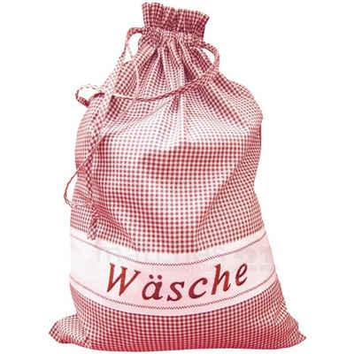 matches21 HOME & HOBBY Wäschesack »Wäschebeutel rot weiß kariert 45x65 cm« (1 Stück)