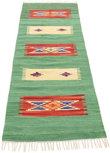 Läufer »Kelim Tara«, carpetfine, rechteckig, Höhe 5 mm, Wendeteppich