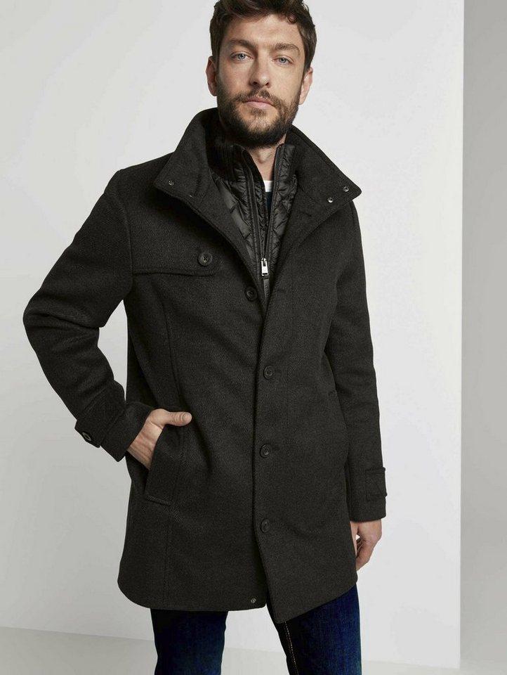 tom tailor -  Dufflecoat »Wollmantel mit gesteppter Unterjacke«