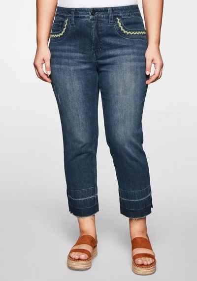 Edle Destroyed Damen Skinny Jeans Hose blau Flicken Pailletten zerrissen Stretch