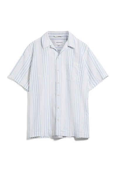 Armedangels Kurzarmhemd »FLAAVIO Herren Hemd aus Bio-Baumwoll-Leinen Mix« (1-tlg)