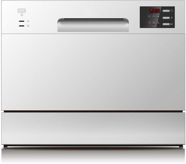 Küchengroßgeräte - Hanseatic Tischgeschirrspüler, HG5544F63602ES, 6,5 l, 6 Maßgedecke  - Onlineshop OTTO