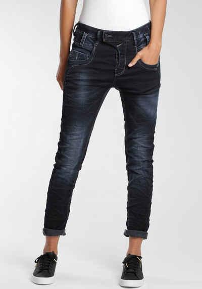 GANG Slim-fit-Jeans »Marge« mit außergewöhnlicher halb verdeckter Knopfleiste