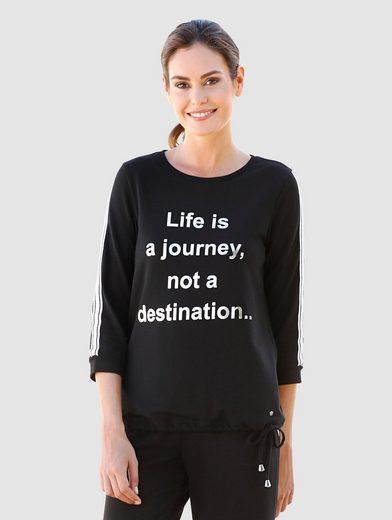Laura Kent Shirt mit silberfarbenem Foilprint