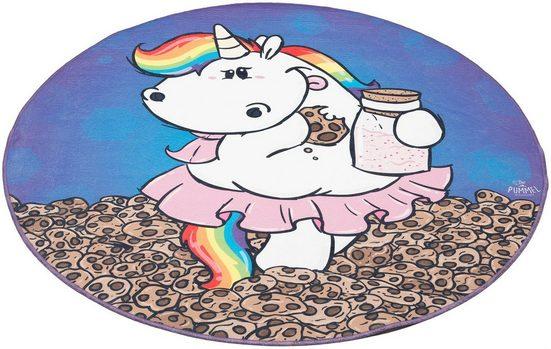Kinderteppich »Pummelfee Kekse«, Pummel & Friends, rund, Höhe 4 mm, bedruckt, waschbar