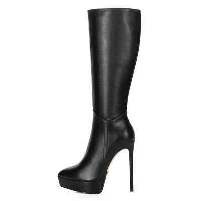 Giaro »Giaro Saraya Schwarz Black Matte Stiefel Plateaustiefel Lederstiefel« High-Heel-Stiefel Vegan