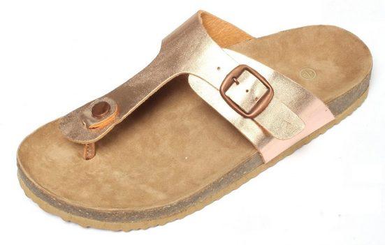 Zapato Zehentrenner rose gold Gr. 37-41 Pantoletten Sandalen Slipper Clogs
