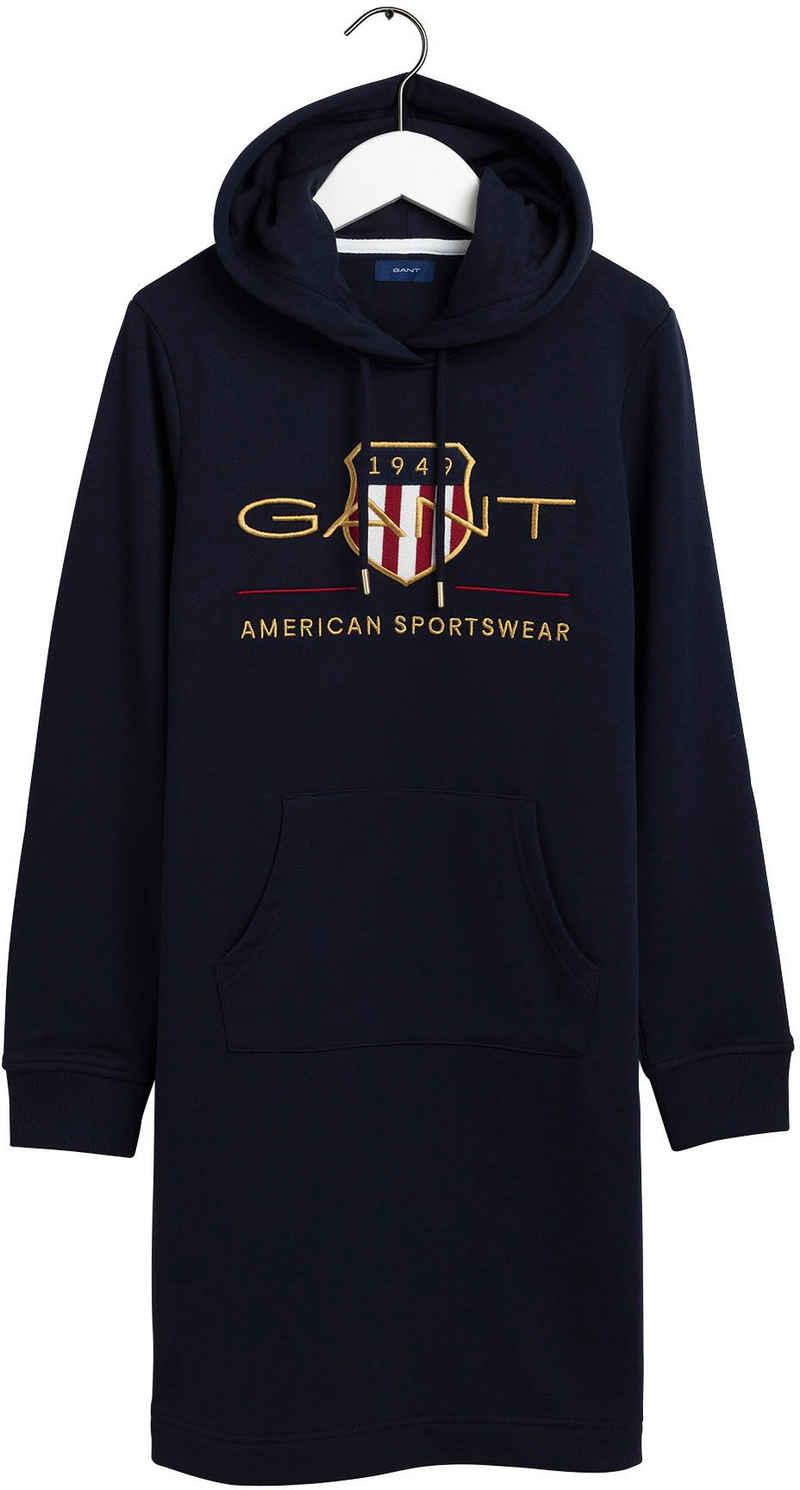 Gant Sweatkleid mit Archive Shield Logo-Stickerei vorne