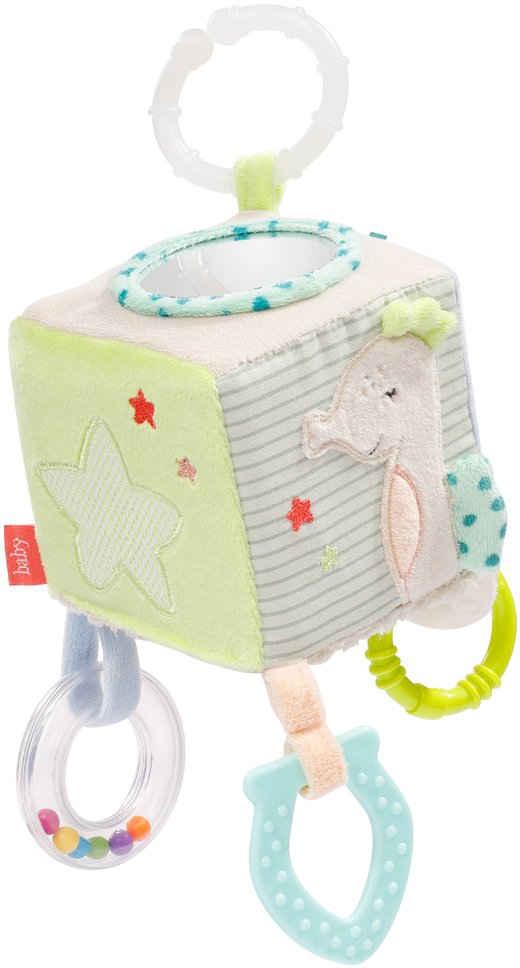 Fehn Greifspielzeug »Activity-Würfel Meereskinder«, mit Ring zur Befestigung an Kinderwagen, Babyschale oder Bett