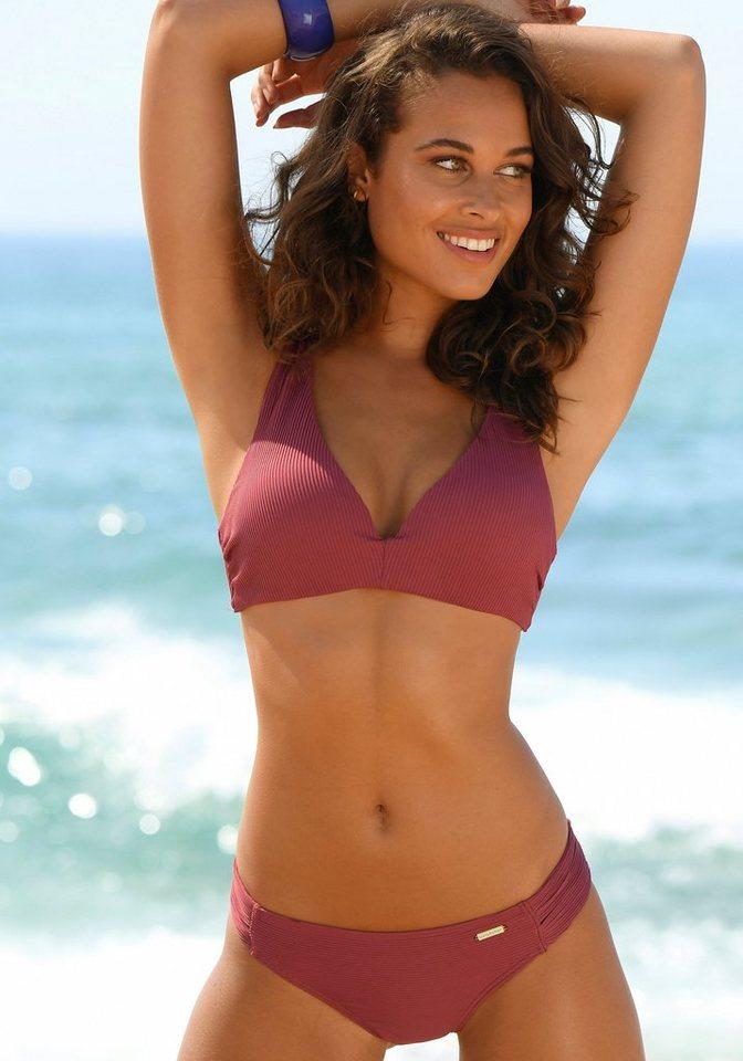 Bademode - Sunseeker Triangel Bikini Top »Fancy«, mit Push up Effekt › rot  - Onlineshop OTTO