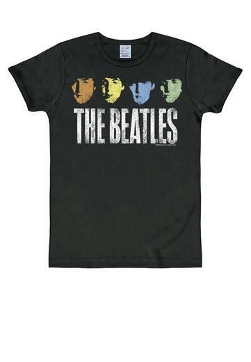 LOGOSHIRT T-Shirt mit lässigem Print »The Beatles«