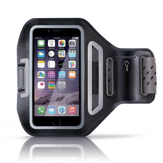 Aplic Smartphone-Tragegurt, (bis 4,7 Zoll, Smartphone Fitness-Armband mit Schlüsselfach & Kopfhörerhalter für Handys mit bis zu 4,7)