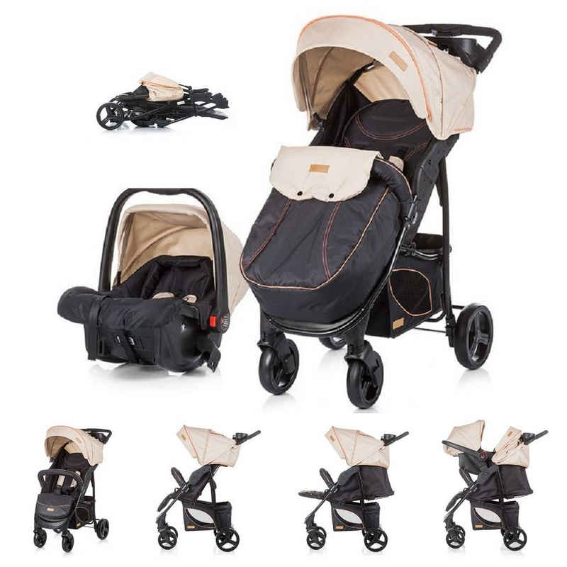 Chipolino Kombi-Kinderwagen »Baby Kombikinderwagen Passo 2 in 1«, mit Autositz, Fußsack