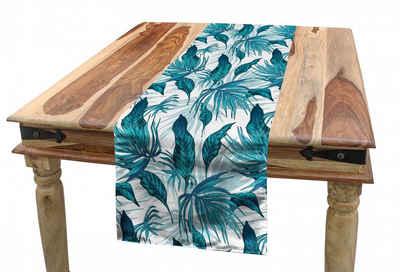 Abakuhaus Tischläufer »Esszimmer Küche Rechteckiger Dekorativer Tischläufer«, Weinlese-Grün Tropische Palmblätter