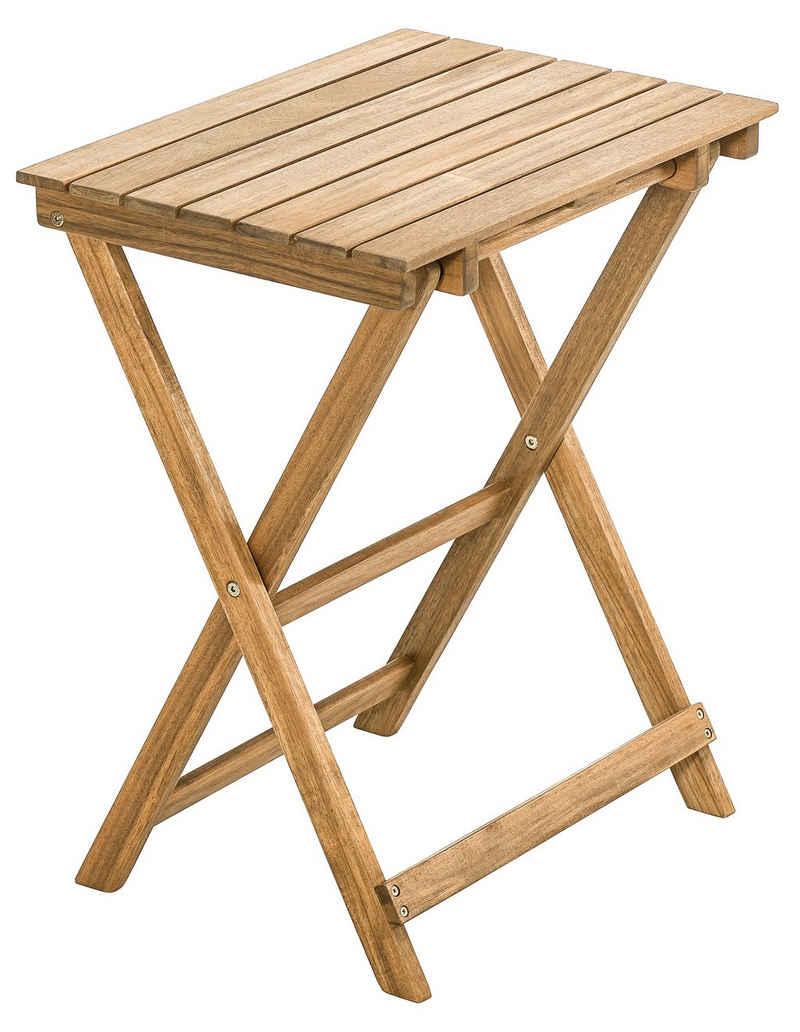 Dehner Gartentisch »Klapptisch Macao, ca. 60 x 50 x 36 cm, FSC® Holz«