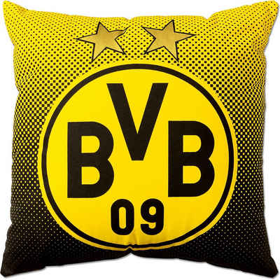 Borussia Dortmund Dekokissen »BVB-Kissen mit Emblem (40x40cm)«