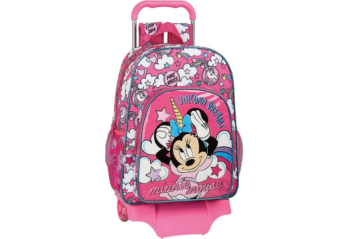 safta -  Rucksack mit Trolley Minnie Mouse Unicorn Dreams