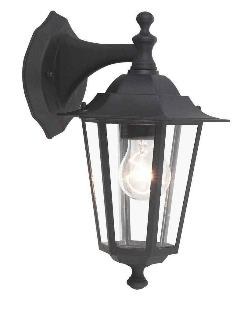 Brilliant Leuchten Außen-Wandleuchte »Crown«, Außenwandlampe hängend schwarz