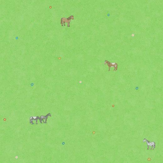 Marburg Vliestapete »grün«, Comic, restlos abziehbar