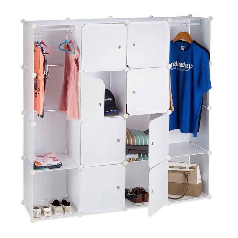 relaxdays Kleiderschrank »Kleiderschrank Stecksystem 12 Fächer«