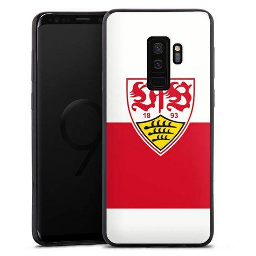 DeinDesign Handyhülle »VfB Stuttgart Brustring« Samsung Galaxy S9 Plus Duos, Hülle VfB Stuttgart Offizielles Lizenzprodukt Logo