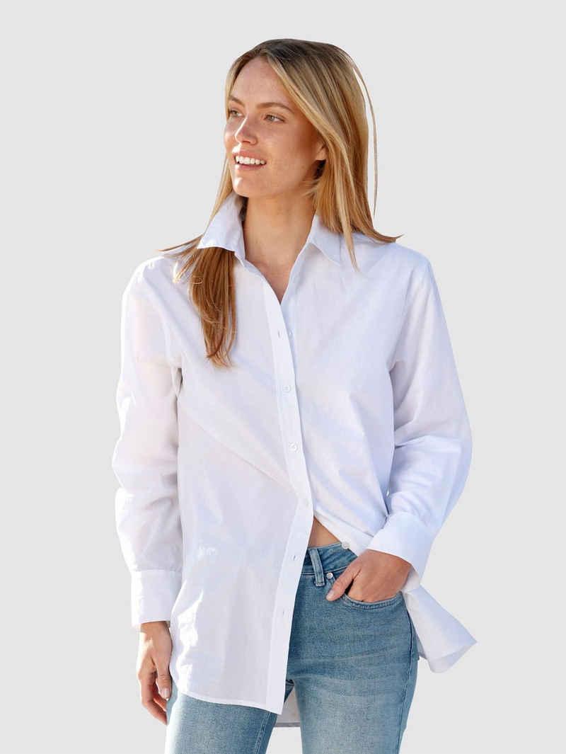 Laura Kent Hemdbluse aus reiner Baumwolle
