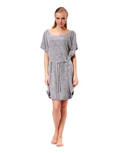 RAIKOU Tunikakleid »Damen weites Oversized-kleid/ Tunikakleid mit Gürtel trendiges Homewear Kleid« mit Gürtel