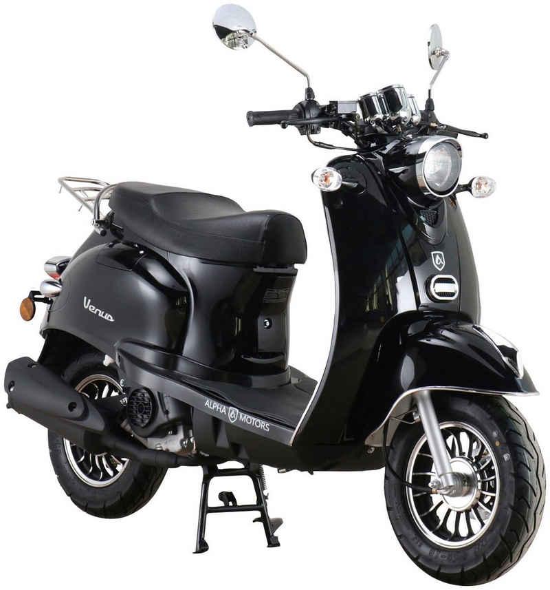 Alpha Motors Motorroller »Venus«, 50 ccm, 45 km/h, Euro 5, schwarz