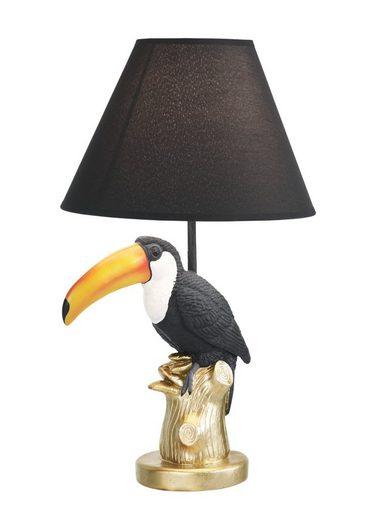 KARE Design Tischleuchte mit Tukan auf Ast
