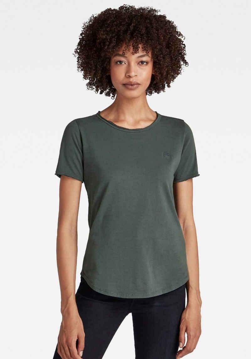 G-Star RAW T-Shirt »T-Shirt Mysid r t option slim« mit Rollkante am Halsausschnitt