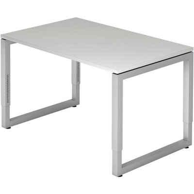 HAMMERBACHER Schreibtisch »R-Line«, mit rechteckiger schwebender Tischplatte mit ABS-Kanten, Bügelfuß, höhenverstellbar