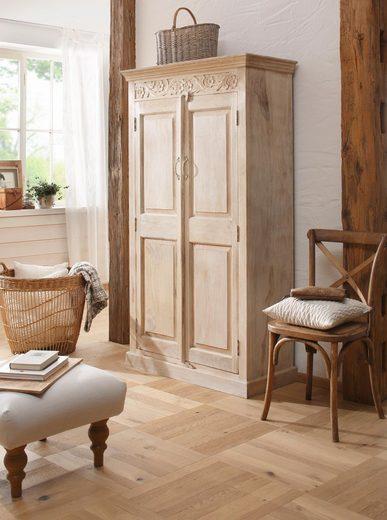 Home affaire Garderobenschrank »Devdan« mit dekorativen Fräsungen oben, Breite 100 cm