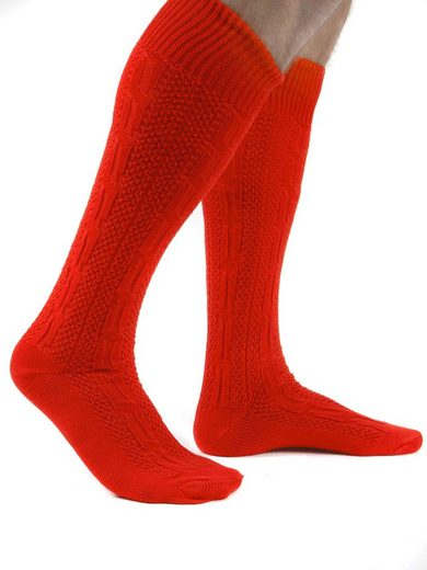 Almbock Trachtensocken »Trachten Socken lang« (1-Paar) rot