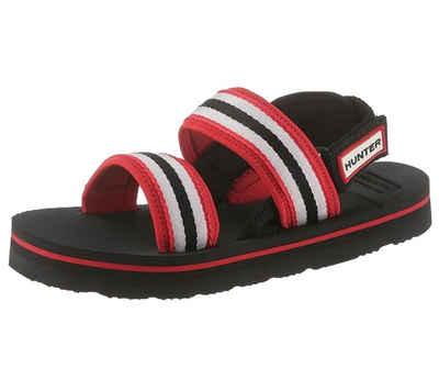 Hunter »HUNTER Plateau-Sandale ausgefallene Damen Home-Schuhe mit Klettverschluss Freizeit-Schuhe Blau« Sandale