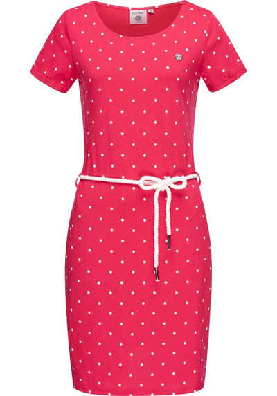 PEAK TIME Sommerkleid »L80022« leichtes Jersey Strandkleid mit Kordel