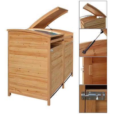Mucola Mülltonnenbox »Mülltonnenbox Doppelbox Mülltonnenverkleidung Mülltonne 240L Gartenbox Anbaubox«