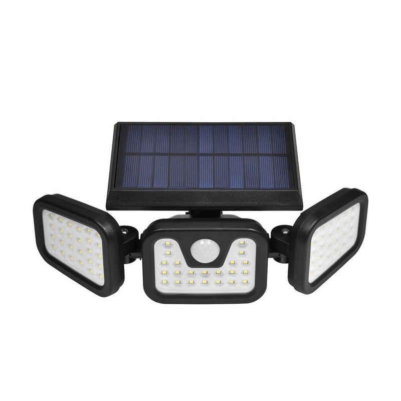 TYCOLIT LED Flutlichtstrahler »LED Außen-Wandleuchte LED Solarleuchte Solarlampen mit Bewegungssensor, 70 LED Flutlicht dimmbar, um 360° drehbare strahler außen solar IP67 Wasserdicht«, Gartenstrahler, Gartenleuchten, Solarleuchten, 50W