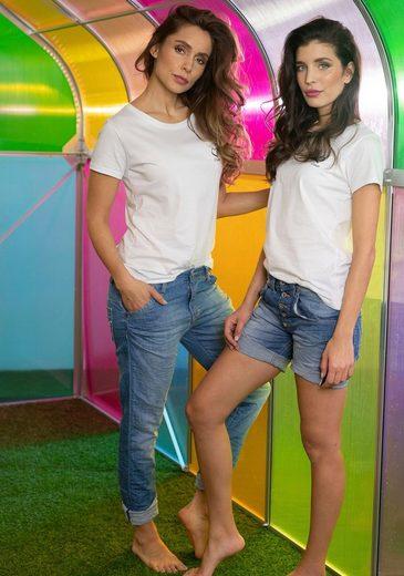 Please Jeans Boyfriend-Jeans »P85A« lässige Jeans Hose mit Crinkle-Effekt und krempelbarem Bein