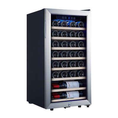kalamera Weinkühlschrank KRC-86FCSS-W, für 28 Standardflaschen á 0,75l,Abschließbare Glastür