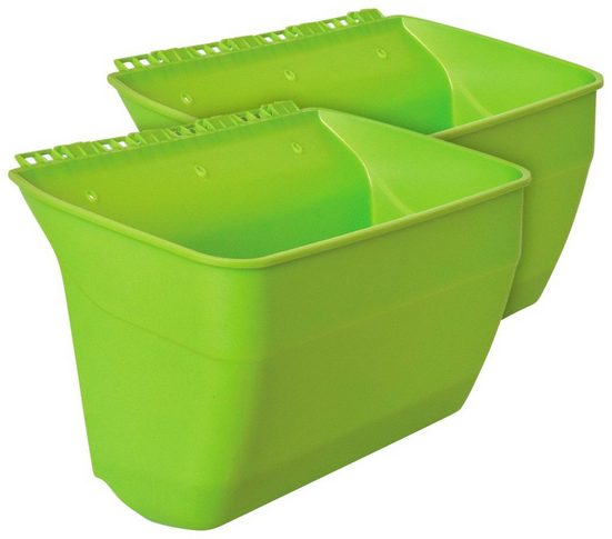 KHW Pflanzgefäß »Naturtalent«, 2 Stk., grün, BxTxH: je 39x24x24 cm
