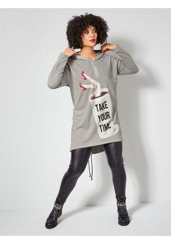 Angel of Style by HAPPYsize Ilgi marškinėliai in Vokuhila-Form su ...